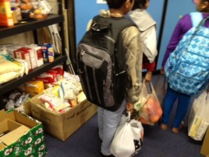 Food bank at school